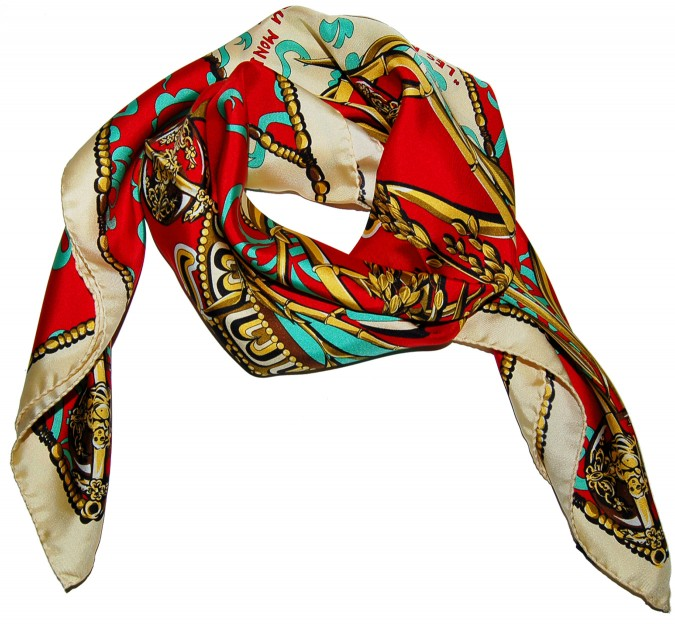 Classic scarves made with solar energy